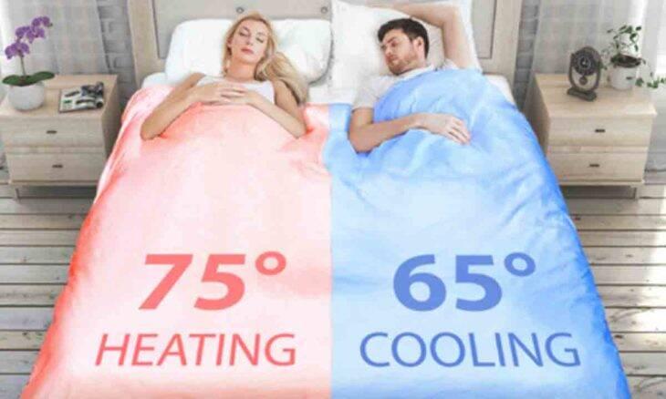Chega de brigar na cama: edredom inteligente esquenta de um lado e esfria do outro. Foto: Divulgação