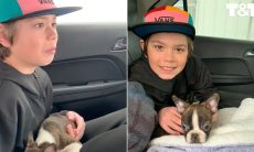 Antes de morrer, pai deixa cachorro como presente para o filho