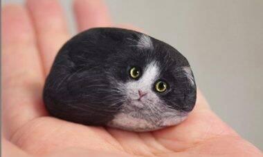 Pedras viram animais nas mãos de um artesão japonês