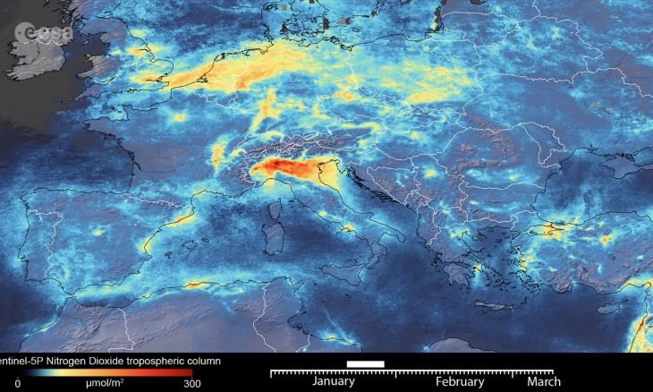 Coronavírus faz poluição do ar diminuir na Itália
