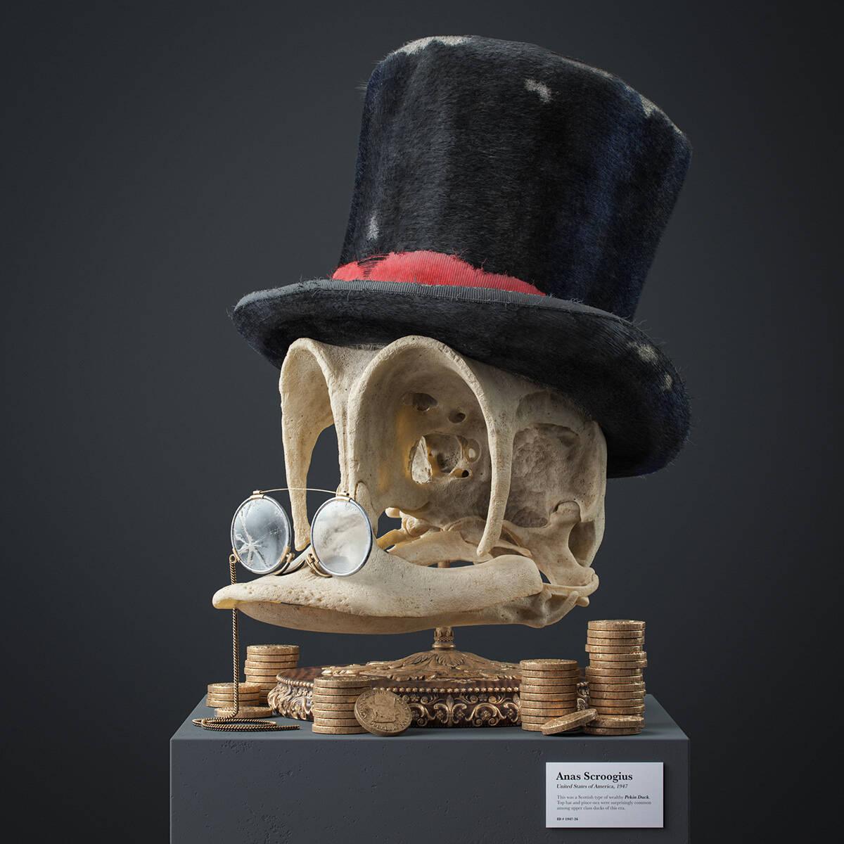 Artista imagina como seria o crânio dos personagens de desenhos