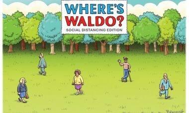 """""""Onde Está o Wally?"""" ganha versões do coronavírus"""
