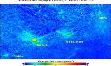 Imagens de satélite confirmam queda da poluição no Brasil