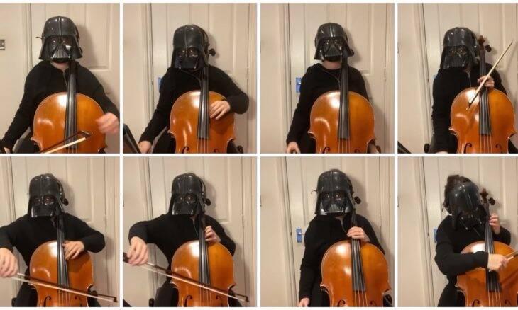 "Musicista usa violoncelo para gravar ""Marcha Imperial"" de Star Wars"