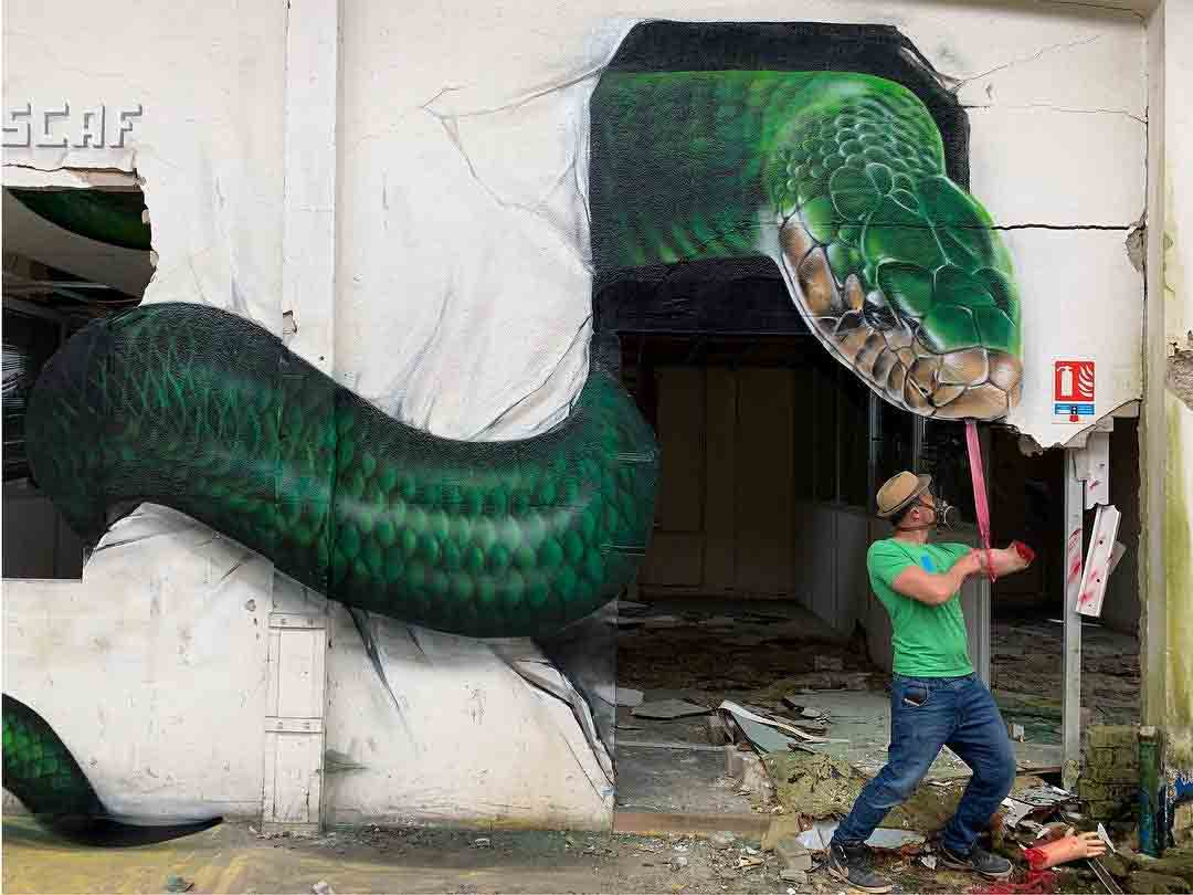Artista cria pinturas em 3D que parecem incrivelmente reais. Foto: Reprodução Instagram