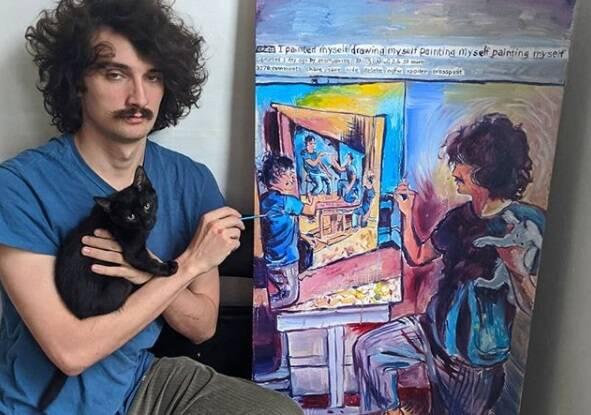 Artista viraliza com série de autorretratos