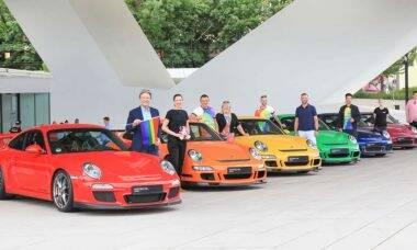 Porsche cria arco-íris movel para demonstrar apoio à comunidade LGBTQI+