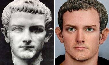Artista recria rostos de imperadores romanos