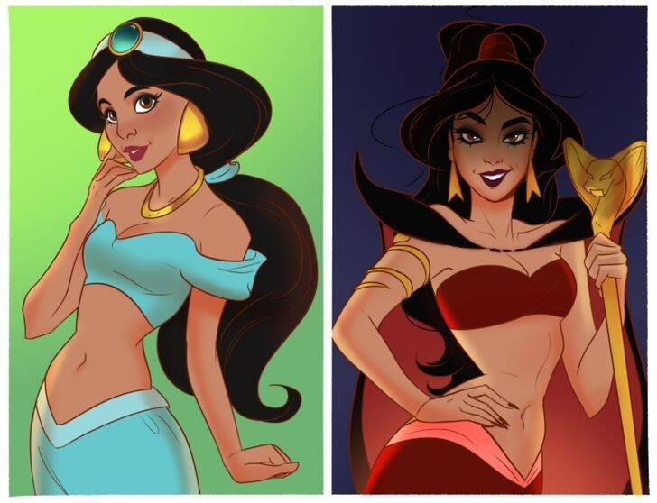 Site transforma heroínas da Disney em vilãs