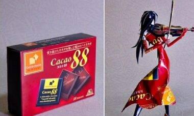 Artista transforma embalagens de alimentos em arte