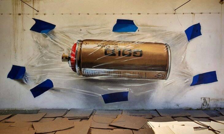 Artista português impressiona com grafites que parecem flutuar