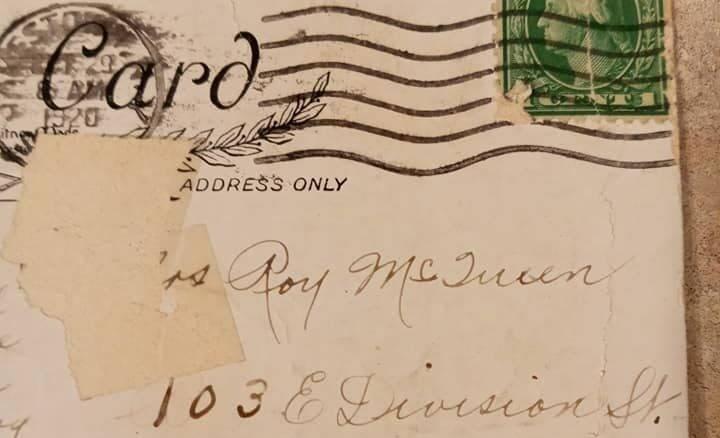 Cartão postado em 1920 chega ao destino com 100 anos de atraso