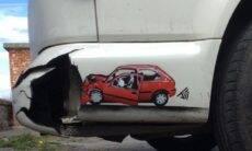 Artista cria grafites que interagem com a paisagem