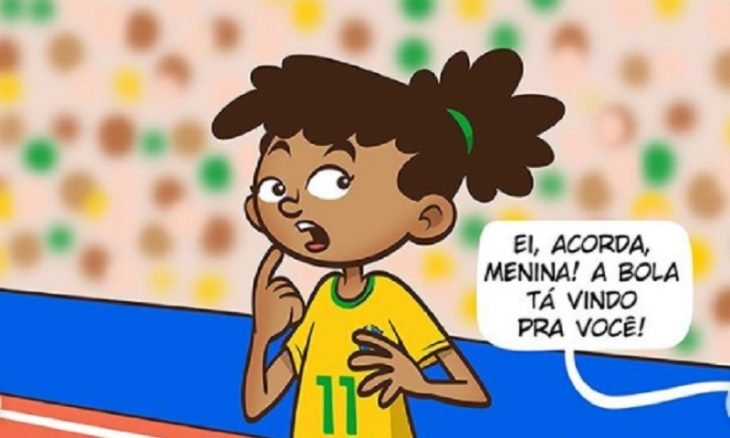 CBF cria quadrinhos sobre garota que quer virar jogadora de futebol