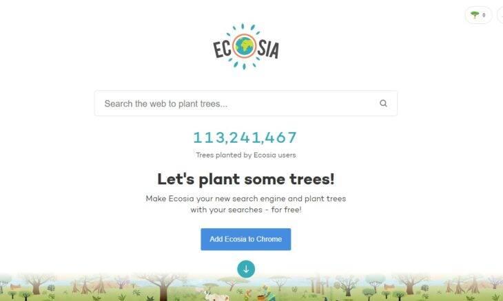 """Conheça o """"Ecosia"""" buscador que promete plantar uma árvore a cada pesquisa"""