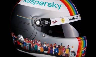 Sebastian Vettel vai usar capacete com bandeira do arco-íris no GP da Turquia