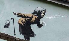 Novo trabalho de Bansky traz imagem de mulher espirrando