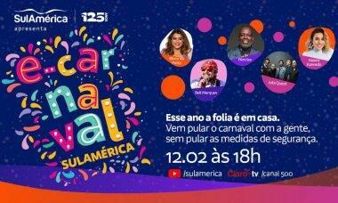"""e-Carnaval SulAmérica: """"Baile Virtual"""" terá a participação de Preta Gil, Bell Marques, Jota Quest, Péricles e Naiara Azevedo"""