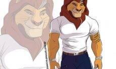 """Ilustrador dá traços humanos aos personagens de """"O Rei Leão"""""""
