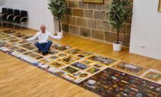 Alemão monta quebra-cabeça com mais de 50 mil peças