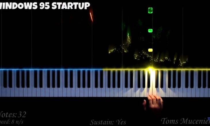 Veja como ficam os sons do Windows tocados no piano