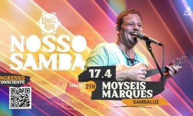 Moyseis Marques estreia neste sábado (17) o Projeto Nosso Samba,lives que celebram o samba e a solidariedade