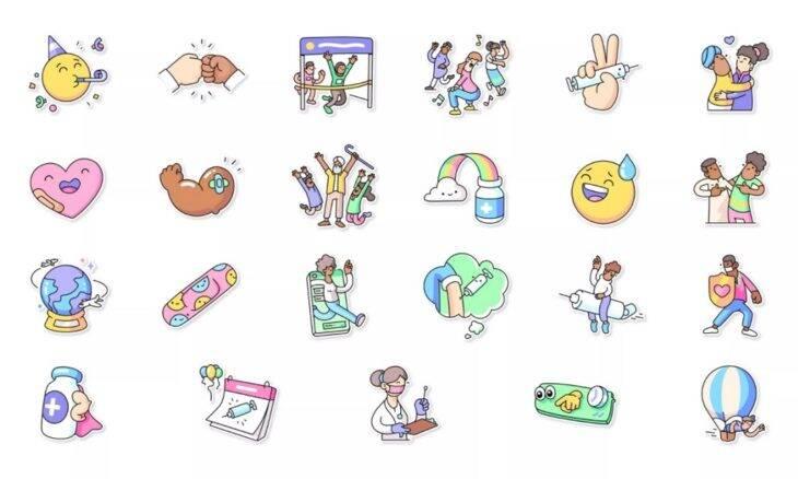 Covid-19: WhatsApp lança pacote de figurinhas em apoio à vacinação