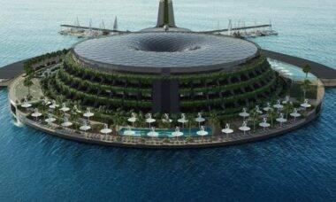 Escritório de arquitetura cria projeto de hotel giratório capaz de gerar energia