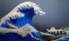 Artista recria obra clássica japonesa com 50.000 peças de Lego