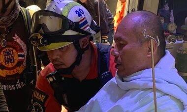 Monge budista é socorrido de caverna após passar dias isolado