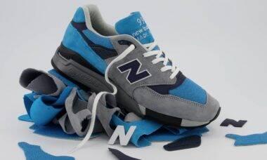 New Balance lança tênis especial feito com retalhos