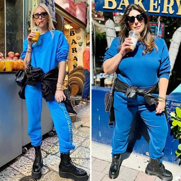 Fashionista recria roupa de celebridades para defender a aceitação do corpo (Foto: Reprodução/Instagram)
