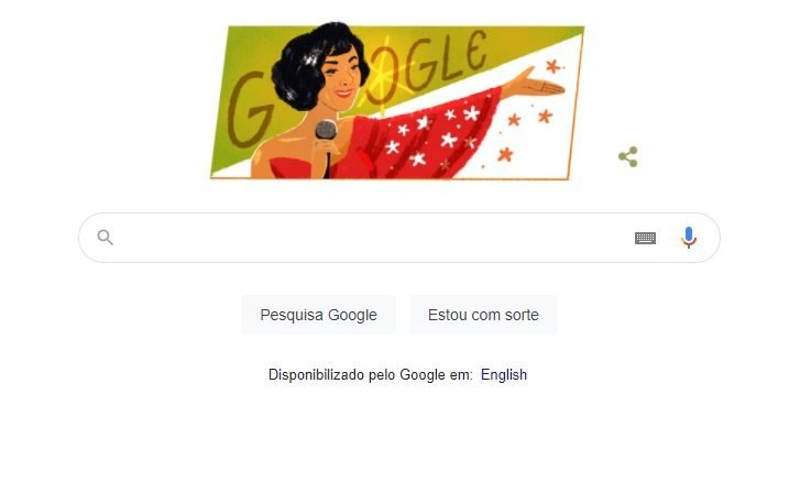 Doodle do Google celebra o 101º aniversário de Elizeth Cardoso