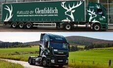 Destilaria de whisky lança frota de caminhões abastecida com restos de... whisky