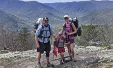 Menino de 5 anos acompanha os pais em viagem de 3.500 km pela Trilha dos Apalaches