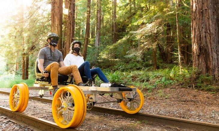 Bicicleta ferroviária vira opção de transporte limpo em rota turística nos EUA