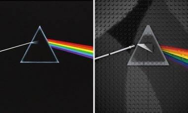 Artista recria capas de discos famosos com Lego