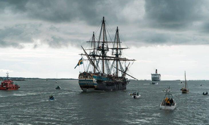 Suecos recriam navio do século 18 para viagem de seis meses até a China