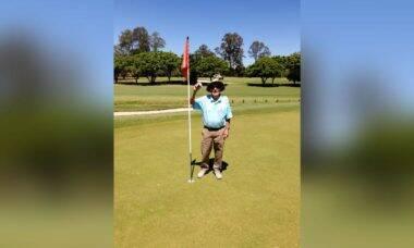 Golfista australiano acerta buraco com uma tacada pela 1ª vez em 61 anos