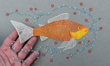 Artista cria trabalhos impressionantes cortando papel